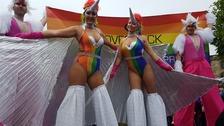 Durham Pride draws bank holiday crowds