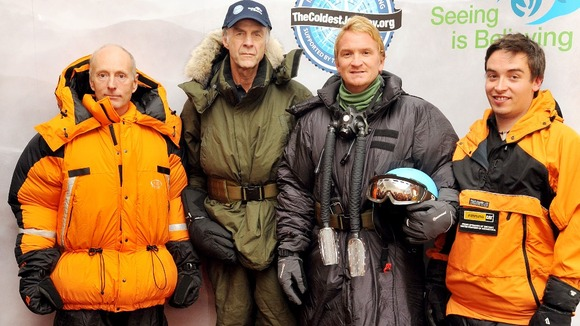 Brian Newham, Ranulph Fiennes,  Ian Prickett and Spencer Swirl,