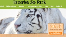 Hamerton Zoo's website