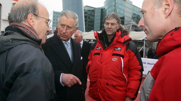 His Royal Highness spoke to members of the expedition