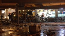 The scene of the bombing.