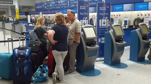 BA passengers check-in.