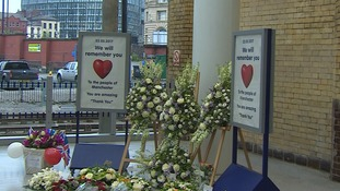 A tribute inside the station.