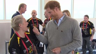 Michelle Partington shared a joke with Prince Harry at the trials.
