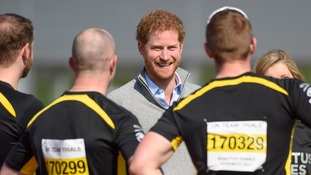 Prince Harry visited competitors at trials in Bath in April.