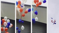 Balloon release in County Durham