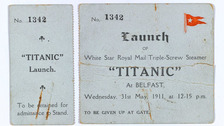 Rare artefacts from Titanic launch to go on display