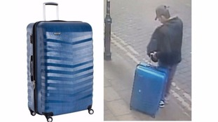 Police have appealed for help in finding a blue suitcase carried by Salman Abedi.