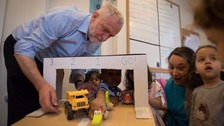'Can we come back to that?' Corbyn stumbles over cost of free child care