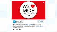 Co-op bank now accepting donations on behalf of the We Love Manchester campaign