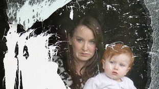 Alliance councillor Christine Bower's, with her 17 month old daughter Grace, at their home in Bangor, Co Down,