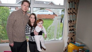 Alliance councillors, Michael and Christine Bower's, with their 17 month old daughter Grace,