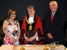 Workington's new mayor, Cllr. Ann Bales in the middle