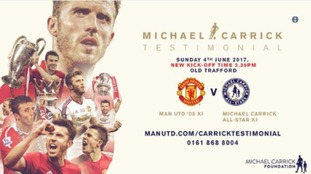 The Michael Carrick testimonial match's kick off has changed to 2:30pm