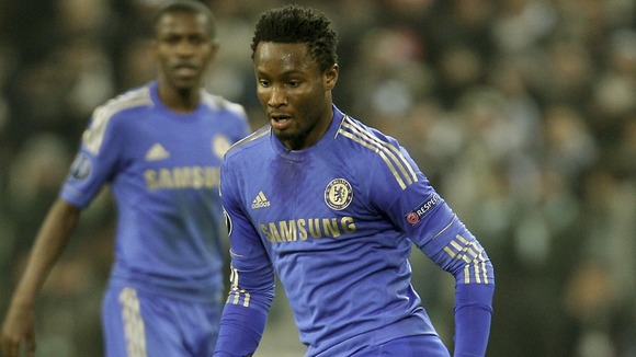Chelsea midfielder John Obi Mikel 