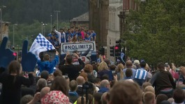 Huddersfield Town celebrate Premier League promotion with civic ceremony