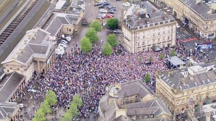 Thousands gather in Huddersfield for promotion party