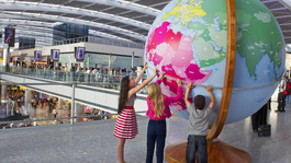 Children with globe