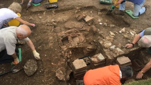 Historic Roman bath unearthed in Chichester park