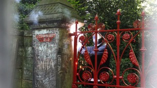 Hand-crafted replica gates at Liverpool's Strawberry Field as the 100-year-old originals have been removed