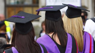 Female students were asked to wear low-cut tops to graduation.