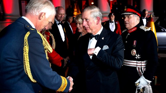 The Prince of Wales and The Duchess of Cornwall are greeted 