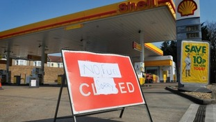 A closed petrol station in Charlton, south east London