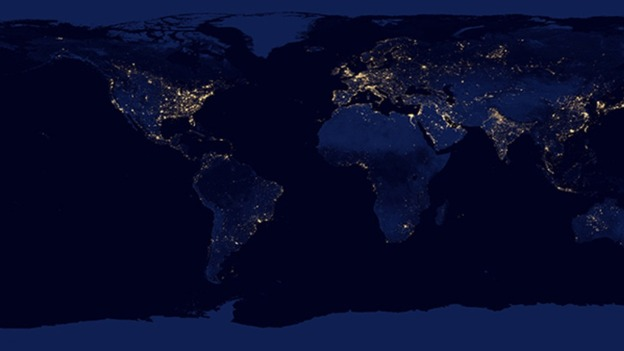 Satellite Reveals New Views Of Earth By Night ITV News - Satellite map of the world at night