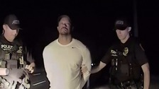 Tiger Woods is arrested by police.