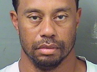 A mugshot of Tiger Woods released by police.