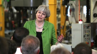 Prime Minister Theresa May speaks during a General Election campaign visit to Cross Manufacturing in Bath