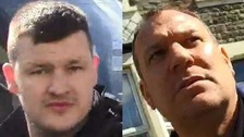 The two Bristol Rovers fans police would like to speak to.