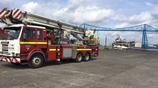 Eight appliances were sent to the Middlesbrough site to tackle the blaze.