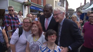 Frank Bruno MBE is supporting Norman Lamb n North Norfolk.