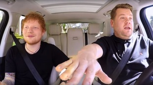 Ed Sheeran joins James Corden for lively Carpool Karaoke