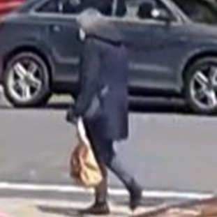A CCTV image shows a woman believed to MrsFinniewalking past Pembridge Court and towards Belle Vue Road on the day she went missing.