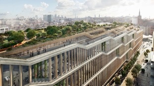 Google unveils ambitious Kings Cross super HQ, complete with running track and rooftop field