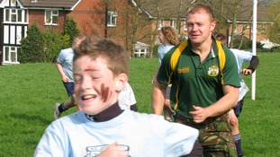 Mike Hamilton, Commando Joes' founder, delivering a fitness session at a school in Manchester.