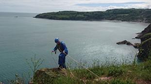 Coastguard cliff rescue