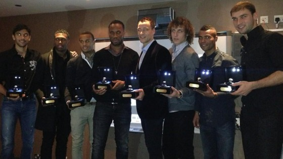 Chelsea players with their commemorative jewellery.