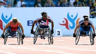 Anne Wafula Strike is a wheelchair racer for Paralympic GB.