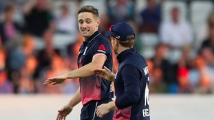 Chris Woakes will miss the rest of the Champions Trophy.