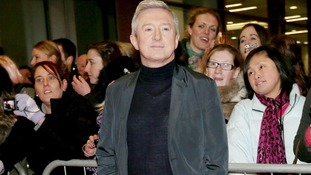 X factor judge Louis Walsh at Manchester Central.