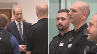 Prince William meets hero cop who helped Manchester victims while searching for his own daughter