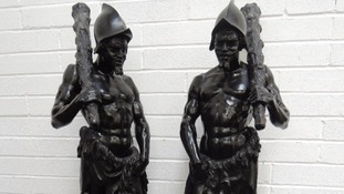 Valuable seven-foot-tall statues of Spanish conquistadors discovered in Cumbria