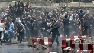 'At least four killed' as protest turns violent in Kabul