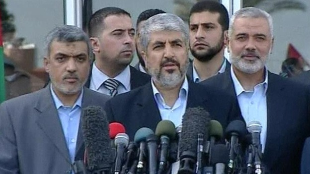This is the first visit to Gaza by Hamas leader Khaled Meshaal