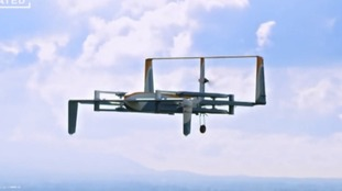 One of the first aerial delivery drones