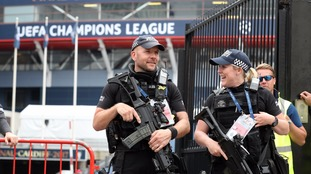 Police at Champions League