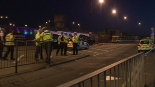 The scene after the incident in Cardiff in March